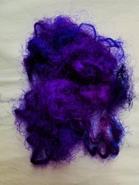 Gerecyclede sari zijdevezels, blauwpaars, vanaf