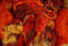 Gerecyclede sari zijdevezels, vanaf 10 gram