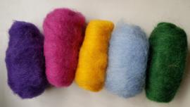 Gekaarde wol assorti sterke kleuren (nr 114)