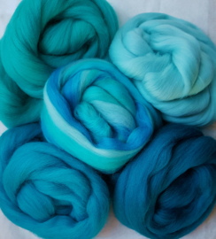Turquoise variatie, vanaf