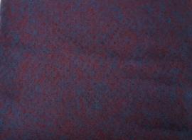 Dun naaldvilt, gemeleerd rood/blauw, vanaf