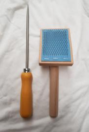 Kaardmolen, inclusief reinigingsborstel en verwijderpen
