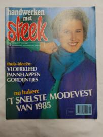 Zoldervondst: Handwerken met steek, januari 1985 (MM)