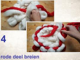WINTER; Theemuts breien, kerstmuts, xxl breien, handbreien