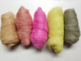 Gekaarde wol assorti lente pastel (nr 251)