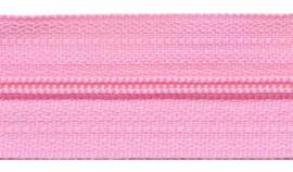 Ritsen van de rol maat 3, spiraalrits, licht roze