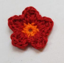Gehaakte bloemetjes ca 4 cm (GH38)