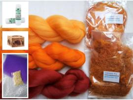 Net-even-een-extraatje-verdiend-knutselpakket geel, oranje, rood, vanaf