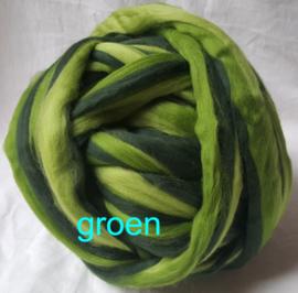 Dik lontwol gemeleerd, groen (199), vanaf