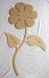 Grote bloem met steel en bladeren