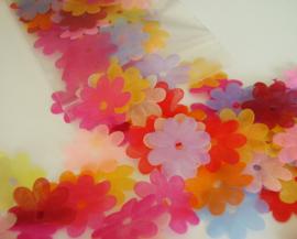 Organza bloemen, 100 stuks