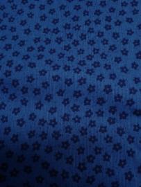 Katoen blauw bloem, div afmetingen