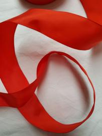 Satijnlint rood 20 mm breed, per 2,5 meter