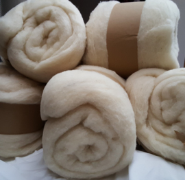 Vulwol basiswol kernwol corewool wit, vanaf 100 gram