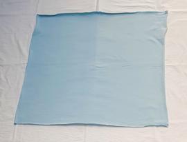 Dun tricot, lichtblauw, 60x62 cm