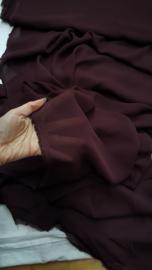 Aubergine/bruin transparant 145 cm breed, meer dan 8 meter