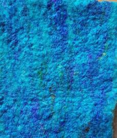Zijdelont, WIT, gerecyclede zijde, gekaard, vanaf 10 gram