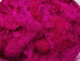 Gerecyclede sari zijdevezels, roze, vanaf