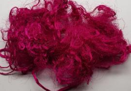 Gerecyclede sari zijdevezels roze B, 7 g