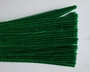 Chenilledraad, kelly green, 50 cm lang
