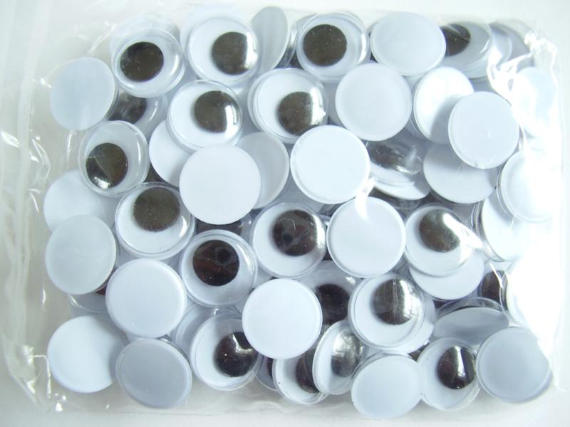 Opplakbare wiebeloogjes 12 mm, per 10 stuks