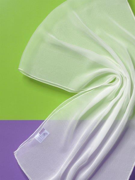 Chiffon zijden sjaal, 45x180 cm