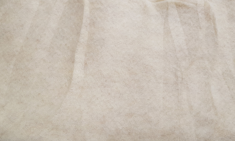 Naaldvlies Europese merino, naturel creme (855)
