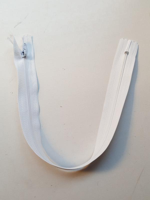 Rits-opruiming, wit 35 cm (W09)