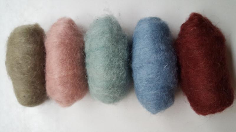 Gekaarde wol assorti zachte moderne kleuren (nr 167)