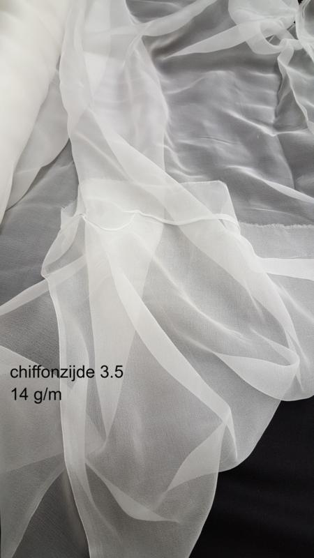 Chiffonzijde 90 cm breed, vanaf 1/2 meter 3.5