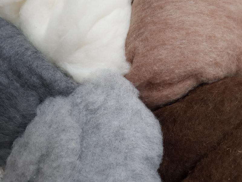 Gekaarde wol assorti PUUR, vanaf
