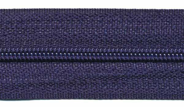 Ritsen van de rol maat 3, spiraalrits, donkerblauw