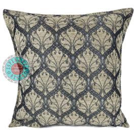 Honingraat crème kussenhoes ± 45x45cm - zilverkleurig patroon