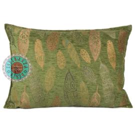 Boho Feathers olive green kussen ± 50x70cm