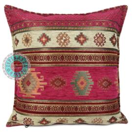 Aztec hard roze kussenhoes ± 45x45cm