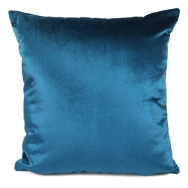 Esperanza Deseo ® kussen - Velvet, petrol blauw ± 45x45cm