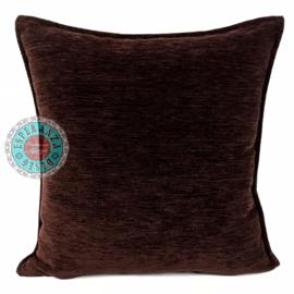 Donker bruin kussen ± 45x45cm
