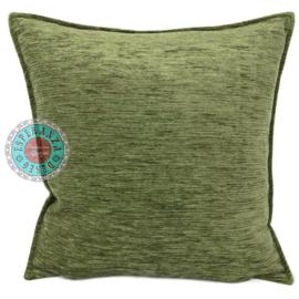Olijf groen kussenhoes ± 70x70cm