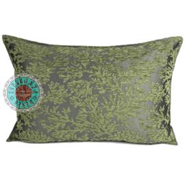 Olijf groen kussenhoes - (Koraal) takken ± 50x70cm