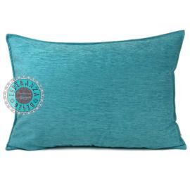 Turquoise groen kussenhoes ± 50x70cm