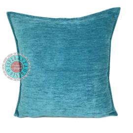 Turquoise blauw kussen ± 70x70cm