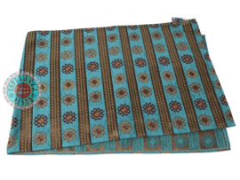 Tafelloper 45x140cm model Peru stripes Turquoise