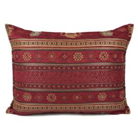 Rood kussenhoes - Aztec ± 50x70cm