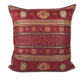 Rood kussenhoes - Aztec ± 70x70cm