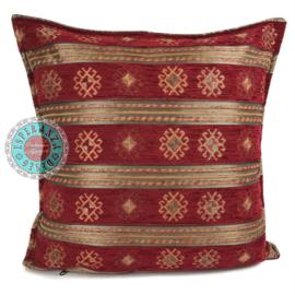 Peru stripes rood kussen ± 45x45cm