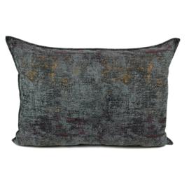 Kussenhoes grijs passend bij Kelim print ± 50x70cm