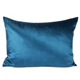 Esperanza Deseo ® kussen - Velvet, petrol blauw ± 50x70cm