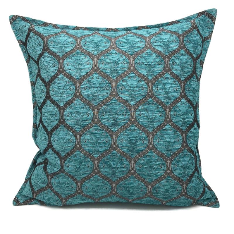Honingraat turquoise kussenhoes ± 70x70cm (tin motief)