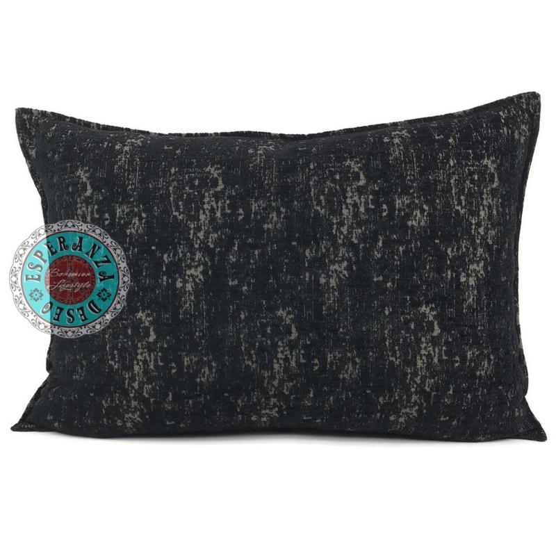 Zwart met brons kussen - Industrieel ± 50x70cm
