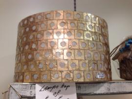 Capiz schelpen cilinder hanglamp /lampenkap 50x50x28  goud